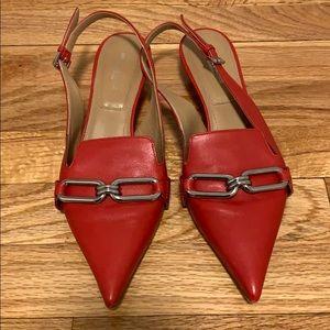 Michael Kors Collection red sling backs!